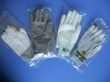 Белая перчатка безопасности работы покрытия ладони PU