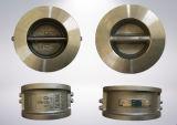 Двойной плиты проверьте клапан Pn16, ANSI150 фланцевых фитингов