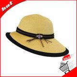 Chapéu flexível da mulher do chapéu da palha de papel da forma