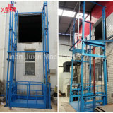 Elevador Chain hidráulico do elevador da carga do trilho de guia