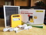 sistema de energia 10W solar portátil com bulbo do diodo emissor de luz