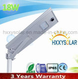 Luz de calle solar integrada del LED 18W