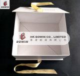La insignia Packaigng cosmético del oro del encierro de la cinta encajona la caja de cartón