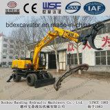 La Chine a fait à charge de canne à sucre de chargeur de roue le chargeur en bois de machine/canne à sucre avec le long bras