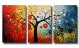 ハンドメイドの木の現代抽象的な油絵