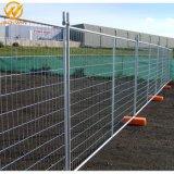 Site de construction enduits de poudre de fil soudé panneau clôture temporaire