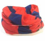 L'OEM a personnalisé l'écharpe de cuir épais de tube de collet de polyester estampée par modèle