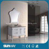 Europa-Art-Antike-Badezimmer-Schrank mit Marmoroberseite Sw-8015