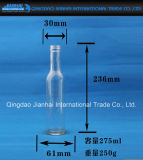 Bleifreie Glasflasche mit Lang-Karosserie für Wein