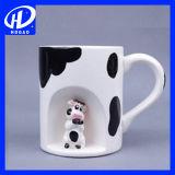 3D 만화 창조적인 동물성 세라믹 찻잔 커피잔 차잔 귀여운 생일 선물