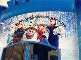 スライドが付いているElsaの凍結する膨脹可能な警備員の弾力がある城