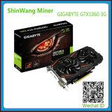 Gigabyte Geforce Gtx 1060 carte grafiche di 3GB Oc Gddr5 per estrazione mineraria di Zcash e di Ethereum