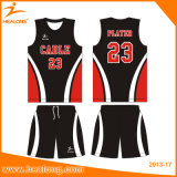 Basquetebol reversível Jersey do engranzamento da impressão do Sublimation do Sportswear de Healong