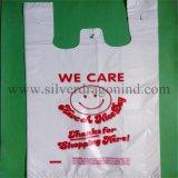 Kundenspezifische HDPE Shirt-Beutel für Supermarkt