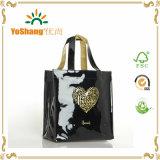 Vente chaude de sacs à bandoulière fabriqués en PVC à base de PVC brillant