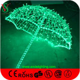 Colorful LED Umbrella Light Decoração de Natal