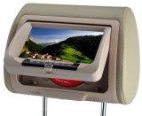 7appui-tête de voiture de moniteur avec lecteur de DVD USB/SD/IR/FM/jeu sans fil