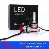 Le lampadine del faro dell'automobile LED di illuminazione 60W 8400lm V5 del LED con Csp LED scheggia H11 H4 H1 H3 H7 9005 un faro delle 9006 automobili LED