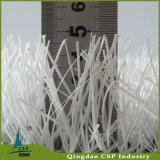 フットボールのための白い人工的な草