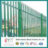 Aço de Alta Segurança paliçada vedações/Aço Galvanizado empurrador do Euro