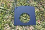 La impresión de cerámica negra de vidrio templado de cocina de gas