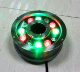 9*1W IP68 impermeabilizzano l'indicatore luminoso subacqueo della fontana del LED