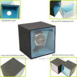 Caja de reloj de plástico y cuero transparente