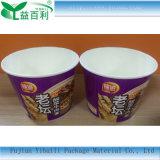Tazón de fuente de la taza de papel para los tallarines