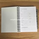 Gewundenes Notizbuch persönliche 4 des Streifen-Drucken-A5 pp. - dem Notizbuch in des Projekt--1
