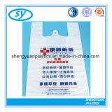 Usine de sac de magasinage en plastique avec poignée de forme de T-Shirt