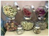 Tarro de cristal para el almacenaje, tarros del alimento del vidrio del coto