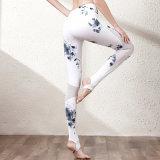 Nylon йога смеси Spandex задыхается Legging женщин с печатание