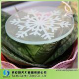 het Ronde Aangemaakte Glas van 4mm met Witte Druk Silkscreen