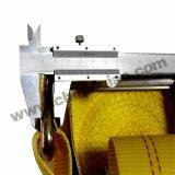 4t polyester jaune d'arrimage de cargaison d'arrimage à cliquet