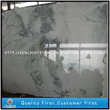 Weißer Wellen-Kristallmarmor für Countertops/Pflasterung-Stein-Fußboden-Fliese