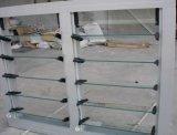 Окно жалюзиего горячей вентиляции сбывания алюминиевое с цветастым стеклом