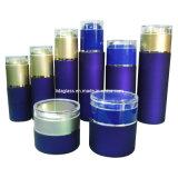 Lotion pour le bleu de luxe de haute qualité Le flacon en verre/ Jar (LD-CR)