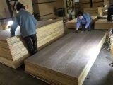 madera contrachapada de lujo de madera de la nuez negra de la madera contrachapada de la madera dura 48.5 '' *96.5 '' de la chapa natural de la cara