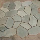 자연적인 베이지색 백기 돌 슬레이트 외부 벽 (SMC-Y067)