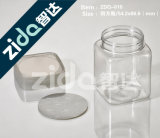 Garrafa de plástico de duplo pescoço com recipiente de medição