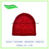 Chapéu vermelho do Knit do inverno do jacquard do projeto novo