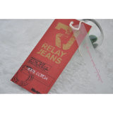 Red Ground Paper Hangtag Wieh Apparel