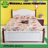 최고 뒤 (W-B-0033)를 가진 오크재 2인용 침대