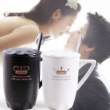 Eco-Friendly 400ml Matte Black Ceramic Mug Cups