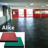 Revêtement de sol en caoutchouc sportif / sol en caoutchouc pour enfants / étages de gymnase entrelacés