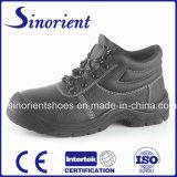 Zapatos de funcionamiento de acero industriales de la seguridad de la punta PU/Leather Snb1261