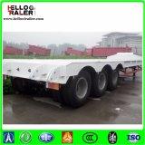 60ton 3 Semi Aanhangwagen van de Vrachtwagen van het Bed van de As de Lage voor Verkoop