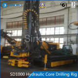 SD1000 Hydraulic Core Drilling Rig met veelvoudige founctions
