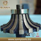 Rodas de perfil de diamante soldadas a vácuo para pedra (SY-BDPW-1000)
