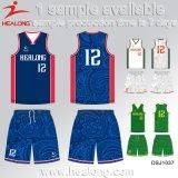 Baloncesto Jersey de la universidad de la sublimación de la ropa de deportes de Healong